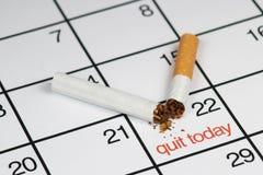 Beendetes heute rauchen Stockbilder