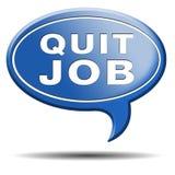 Beendigen Sie den Job, der Arbeit für Karrierebewegung verlässt Lizenzfreies Stockbild