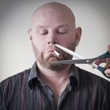 Beendigtes Rauchen stockbilder