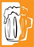 Beer. Against white background. Element for design vector illustration Stock Photo