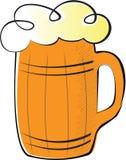 Beer. Against white background. Element for design vector illustration Royalty Free Stock Photo