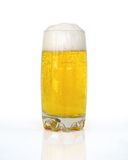 Beer. A glass of frothy fresh beer Royalty Free Stock Photography
