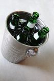 Beer. Bucket of cool beer for party and clubbing with friends Royalty Free Stock Photos