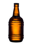 Beer. Bottle with beer sliced on white background Royalty Free Stock Image