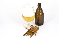 Beer. A glass of wheat beer isolated Stock Photo