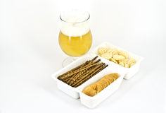 Beer. A glass of wheat beer isolated Royalty Free Stock Photo