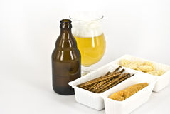 Beer. A glass of wheat beer isolated Royalty Free Stock Photography