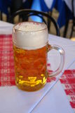 Beer. A glas of beer in a restaurant in Bavaria, Germany stock photos