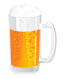 Beer. Detailed vector illustration of a glass of beer Stock Photography
