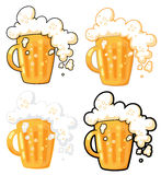 Beer. Illustration collection of lager beer Royalty Free Stock Photography