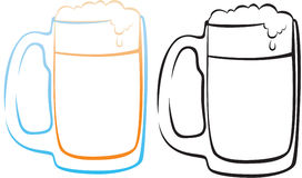 Beer. The figure shows a stylized beer mug Royalty Free Stock Photo