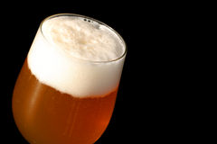 Beer. Fresh cold blond stock image