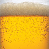 Beer. Close macro image of glass of beer Royalty Free Stock Photography