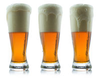Beer. Picture of three beer glasses Royalty Free Stock Image
