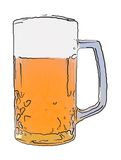 Beer. Illustration: A glass of beer Royalty Free Stock Photos