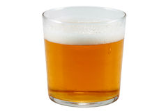 Beer. Glass of beer made with natural ingredients cut horizontally Stock Images