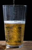 Beer. A low key image of a pint of beer being poured Stock Photography