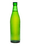 Beer. Green bottle of beer on white background Stock Images