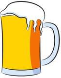 Beer. Cartoon illustration of a big beer mug, isolated Stock Photo