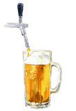 Beer. Tasty beer in toby from valve Stock Images