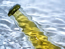 Beer. Bottle beer in water royalty free stock image