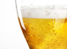 Beer. Glass of beer in white background stock photos