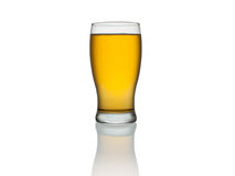 Beer. A glass of beer isolated on a white background Stock Photos