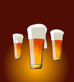 Beer. Vector illustration - beer for desing Stock Photography