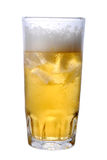 Beer. Mug of lagar beer on isolated background Stock Photography