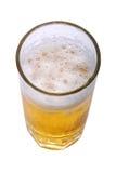 Beer. Top angel shot, Mug of lagar beer on isolated background,path inculde Stock Photo