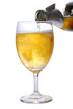 Beer. Poured in to glass Royalty Free Stock Photo
