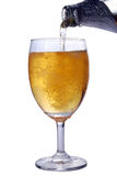 Beer. Poured in to glass Royalty Free Stock Image