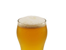 Beer. Glass isolated on a white background Stock Images