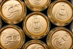 Beer. Aluminium cans of Czech beer Stock Photo