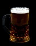 Beer. On black stock image