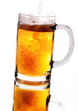 Beer. Alcohol, Glass with , cold Royalty Free Stock Photo