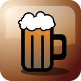 Beer. An illustration of beer icon Stock Images