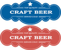 Beer advertising badges Royalty Free Stock Photo