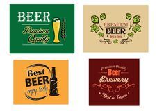 Beer advertising posters Stock Photos