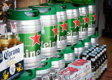 Beer and alcohol. For sale in the market Stock Images