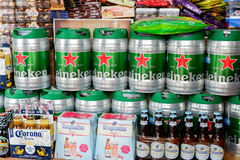 Beer and alcohol. For sale in the market Royalty Free Stock Photo