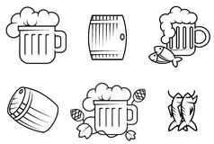 Beer and alcohol symbols Stock Photo