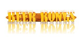 BEER ALPHABET letters BEER BONGS Royalty Free Stock Photography