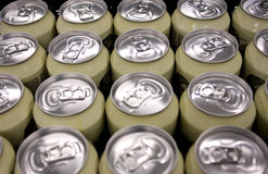 Beer aluminium jars Stock Image