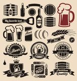 Beer And Beverages Design Elements Collection Royalty Free Stock Photos
