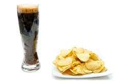 Beer And Chips Royalty Free Stock Photos