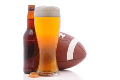 Beer And Football Royalty Free Stock Photos