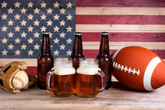 Free Beer And Sports Stuff For The Holiday Season Stock Photos - 69321513
