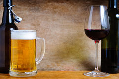 Beer And Wine Royalty Free Stock Image