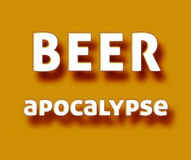 Beer apocalypse. Simple orange Beer apocalypse meme vector illustration
